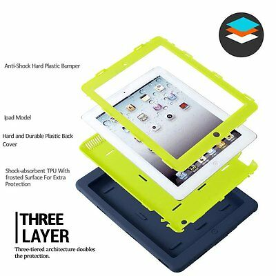 """Heavy Duty Shockproof Case Cover For New iPad 6th Gen 9.7"""" iPad 4 3 2 mini Air 8"""