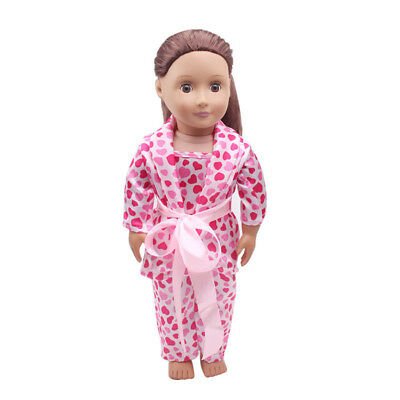 5PCS /Set Clothes Shoes for 18'' American Girl Our Generation Dolls Pajamas UK 4