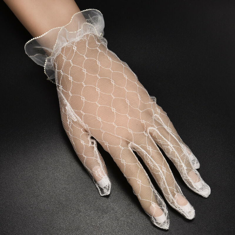Hot 1Pair Ivory Lace Wedding Gloves Women's Wedding Bridal Party Gloves JT 3