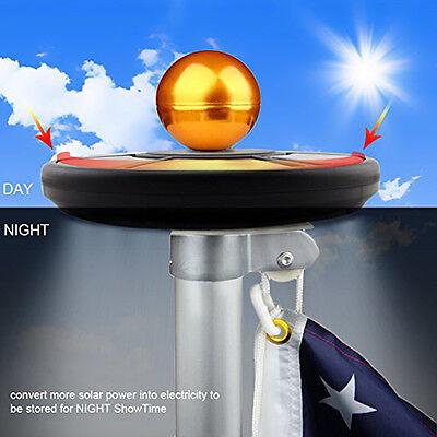 26LED Upgrade Solar Fahnenmast Licht Auto Aktiv Für Yard Garten Deko Leuchte