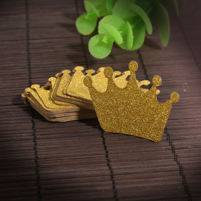 24 PCS GLITTER Crown Cupcake Wedding Picks Birthday Cake Topper ...