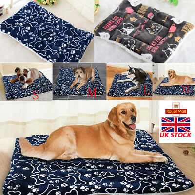 UK Pet Washable Home Blanket Cat Dog Bed Cushion Mattress Kennel Soft Crate Mat 2