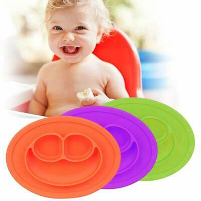 Cute Bowl Silicone Mat Baby Kids Child Suction Table Food Tray Placemat Plate 2