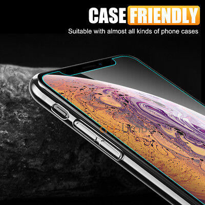 Apple iPhone XS Max XR X - 2x Scratch Resist Tempered Glass Screen Protector 5