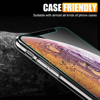 Tempered Glass Screen Protector For Apple iPhone X XS Max XR 8 7 6 6S Plus 5S SE 5