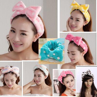 Korean Girl Women Velvet Bow Headband Spa Bath Shower Makeup Wash Face Hairband 4