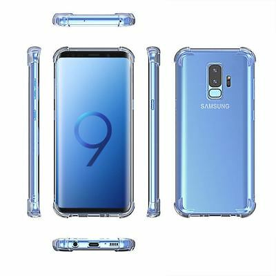 For Galaxy S9 Plus S10 Plus S10e Clear Case TPU Bumper Transparent Cover Protect 4