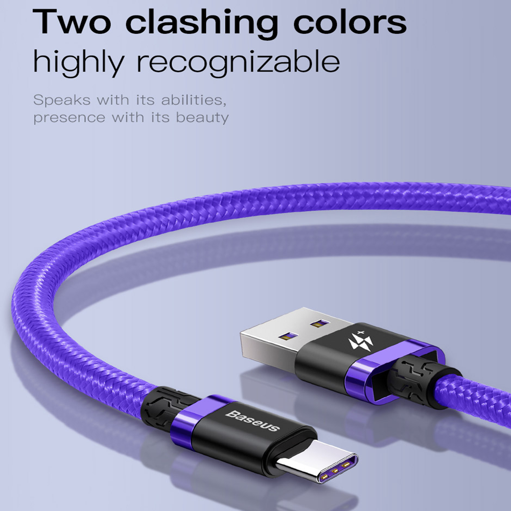 Samsung Galaxy S10 Plus S9 Note 9 USB Type-C 40W 5A Charging Charger Cable Cord 9