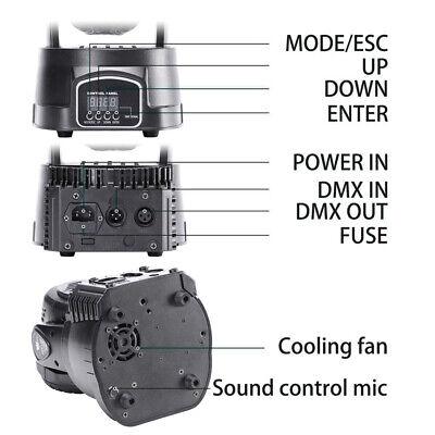2x 105W RGBW Wash 7LED 9/14CH DMX Mini Moving Head Stage Light Lighting DJ Disco 7