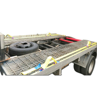 5T (5000Kg) Heavy Duty Recovery Ratchet Straps 4.2m x 50mm and 4x 1T Wheel Links 5