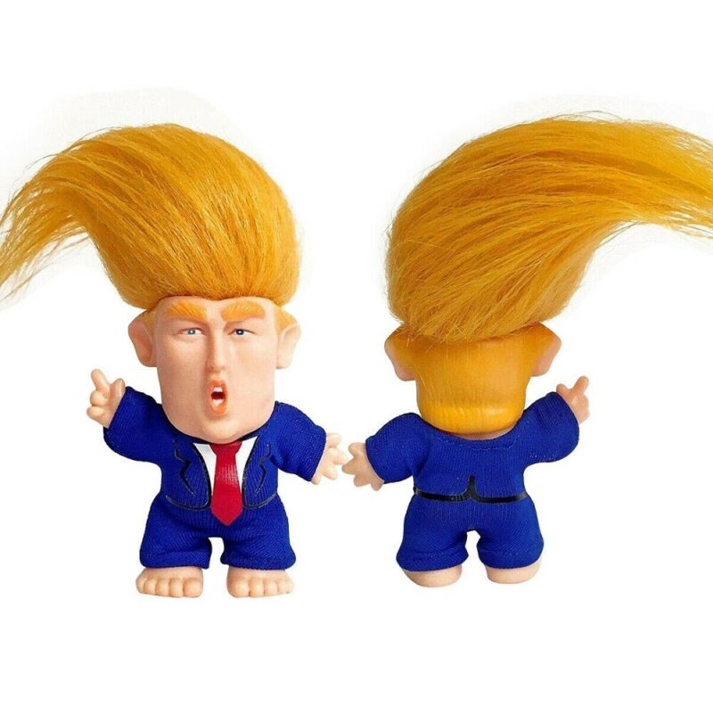 President Donald Trump Collectible Troll Doll Make America Great Again Figure Ak 3