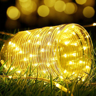 12M 100LED Waterproof Solar Power String Fairy Light Rope Tube Garden Lamp Xmas 5