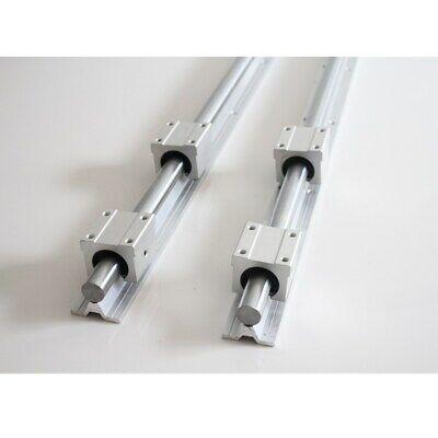 2Set SBR20-500mm 20mm Linear Slide Rail Shaft 4Pcs SBR20UU Bearing Block CNC