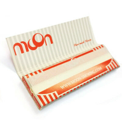 "Moon Red 1.0"" 50 booklets 70*36mm Cigarette Tobacco Rolling Papers Wood Papers 3"
