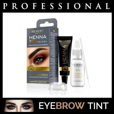 Professional EYEBROW HENNA Brow Eyelash TINT Dye Cream Black Brown Graphite 15ml 5