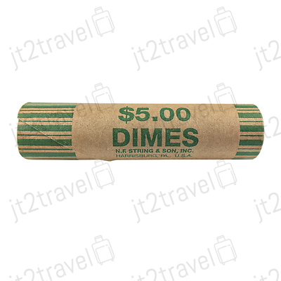 72 Preformed nickle Tubes Paper Coin Wrapper 5 cent Shotgun Roll Counter