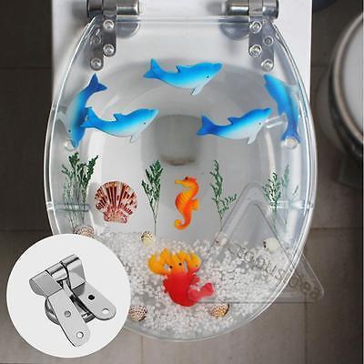 Siège de Toilette Charnière Universel Fixation Abattant WC Remplacement Rechange 4