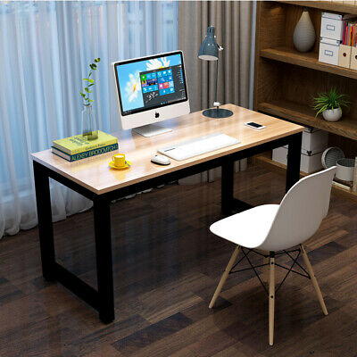 Large Walnut Wooden /& Metal Computer PC Home Office Desk Study Table Bedroom