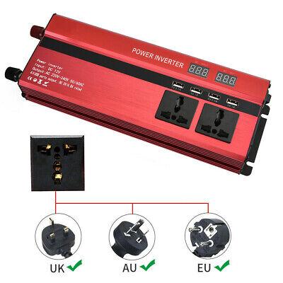 1500/6000W Caravan Power Inverter DC 12V to AC 220V Converter 4 USB 3 Socket UK 7