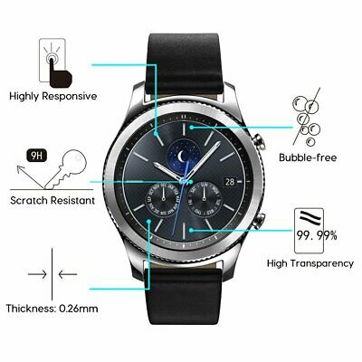 3xPACK Genuine Samsung Galaxy Watch 42/46mm 9H Tempered Glass Screen Protector 9