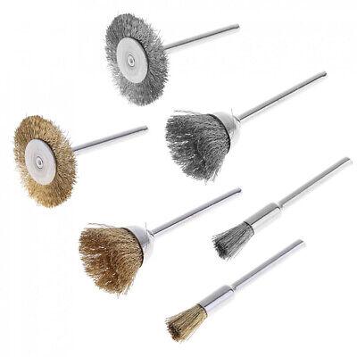 36pcs Wire Steel Brass Brushes Polishing Brush Wheels Set for Dremel Rotary Tool 3