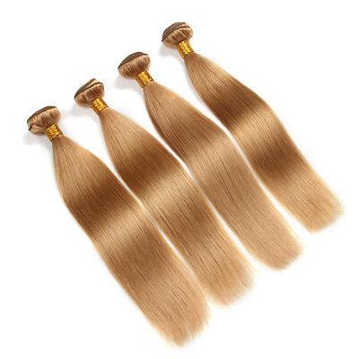 9A Remy Lisse Blond Miel #27 Vierge Brésilien Cheveux Humains Tissage One Paquet 2