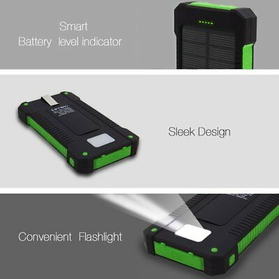 50000mah Solar Power Bank 2 LED 2 USB Waterproof Battery Charger for Cell Phone 11