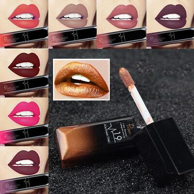 PUDAIER Makeup Waterproof Matte Velvet Liquid Lipstick Long Last Lip Gloss NV57 2