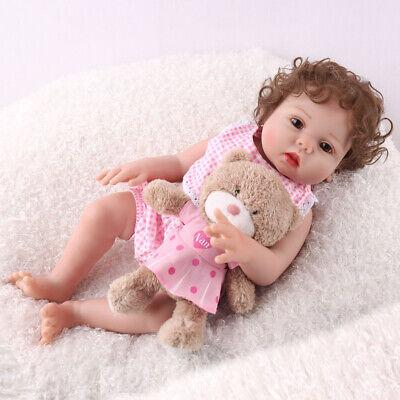"16"" Full Body Silicone Reborn Baby Doll Anatomically Handmade Xmas Gifts Doll 8"