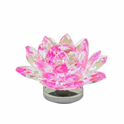 Large Pink Crystal Lotus Flower Ornament With Gift Box  Crystocraft Home Decor 4