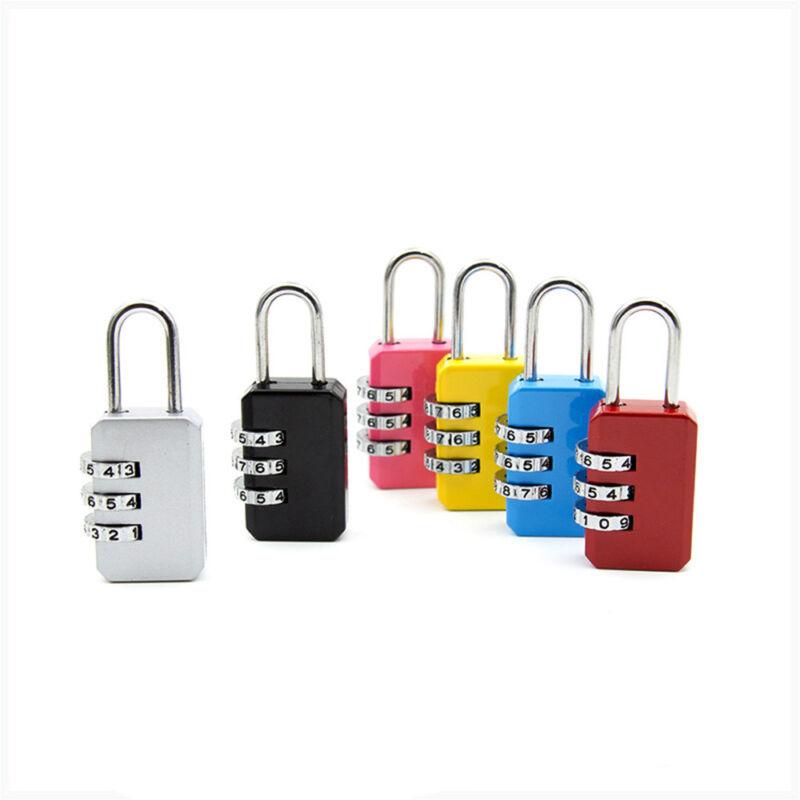 4 Digit Dial Combination Metal Code Password Lock  Suitcase Luggage Padlock 10