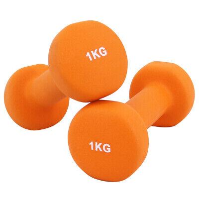 Neoprene Dumbbells Hexagonal Cast Iron Weights Ladies Home Gym Workout Aerobic 3