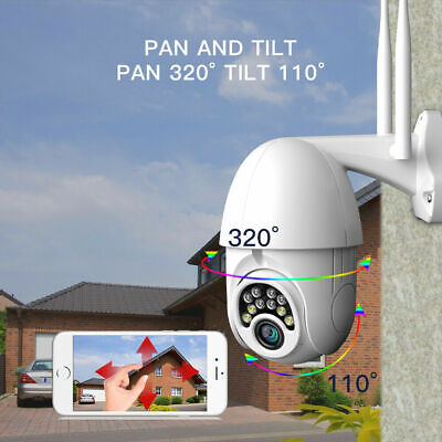 1080P HD Outdoor Waterproof WiFi PTZ Pan Tilt Security IP IR Camera Night Vision 2