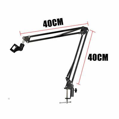 Microphone Suspension Boom Arm Desktop Stand Mic Holder Mount Bonus Pop Filter 7
