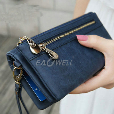 AU Women Lady Long Travel Wallet Zip Purse Card Phone Holder Case Clutch Handbag
