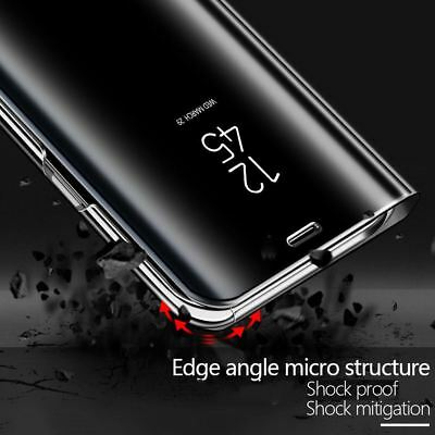 Smart View Mirror Leather Flip Stand Case Cover For Huawei P20 Pro Lite Plus P10 4