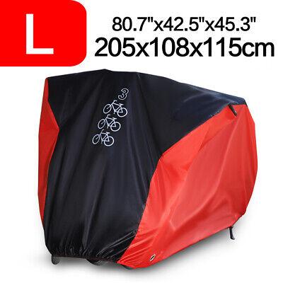 Single/Double/Triple Bicycle Bike Cycle Cover Waterproof Rain Dust Sun Protector 6