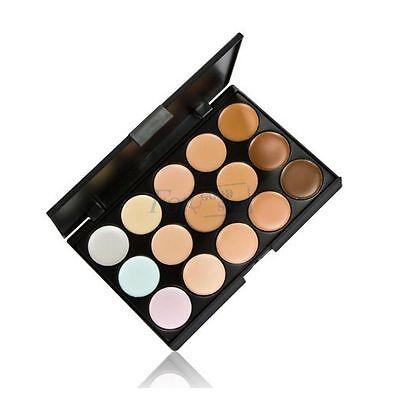 15 Color Contour Face Makeup Set Concealer Camouflage Palette Neutral Brush N1 3