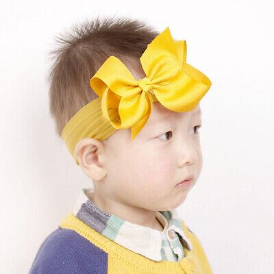 Girls Kids Baby Soft Bow Hairband Headband Sweet Turban Knot Head Wrap Cute Bow 7