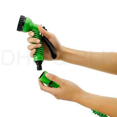 Deluxe 25 50 75 100 Feet Expandable Flexible Garden Water Hose w/ Spray Nozzle 8