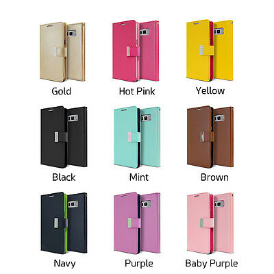 Galaxy S10 S10e S10+ Plus S9 S8 Case  Goospery Wallet Leather Card Slot Samsung 4