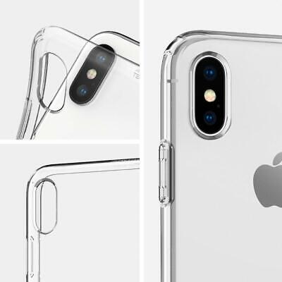 iPhone XS Max XR X Case Genuine SPIGEN Liquid Crystal SLIM CLEAR Cover for Apple 10