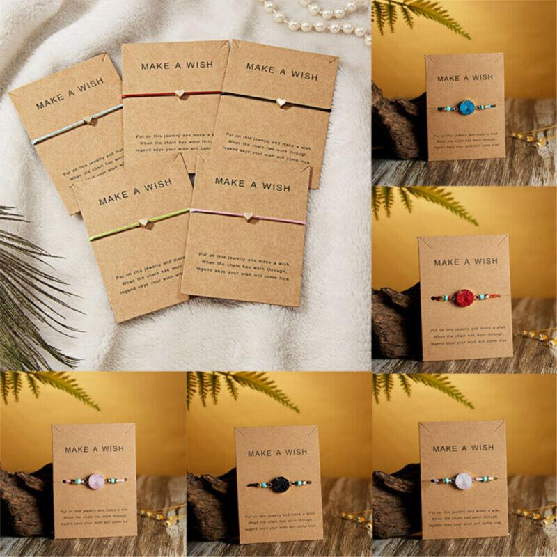 Handmade Heart Star Rope Bracelet Bangle Friendship Couple Card Jewelry Gift Hot 3