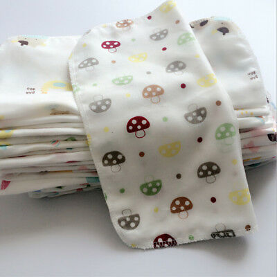 10Pcs Baby Newborn Gauze Muslin Square 100% Cotton Bath Wash Handkerchief Towels 2