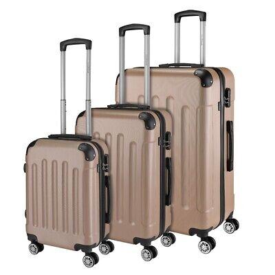 Reisekoffer SET 3tlg. Hartschalen Trolley Handgepäck Kofferset Bordgepäck 2