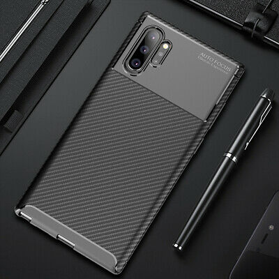 For Samsung Galaxy Note 10 10 Plus Carbon Fiber Rubber Case Slim Matte Cover 8