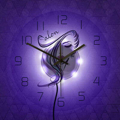 Beauty Time Hair Salon Hairdresser Barber Shop Transparent Acrylic Wall Clock 5