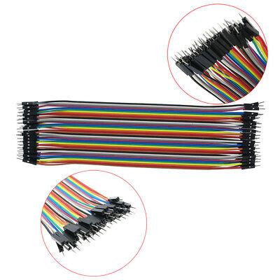 40pc 10-30cm Dupont Jumper Wire Ribbon GPIO Cable Arduino Breadboard F-F/M-M/F-M 9