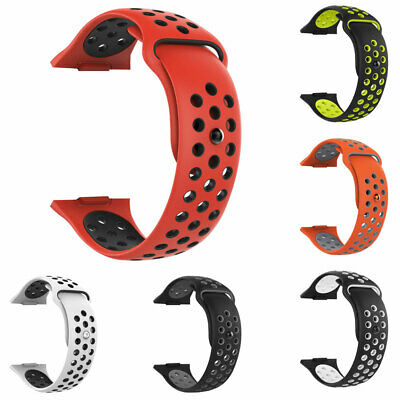 For Fitbit Ionic Replacement Dual Color Silicone Wrist Band Watchband Strap Flow 3