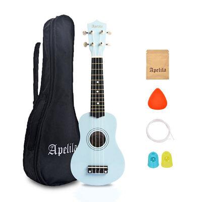 21 inch Soprano Ukulele Apelila Acoustic Mini Guitar Music Instrument + Gig Bag 9